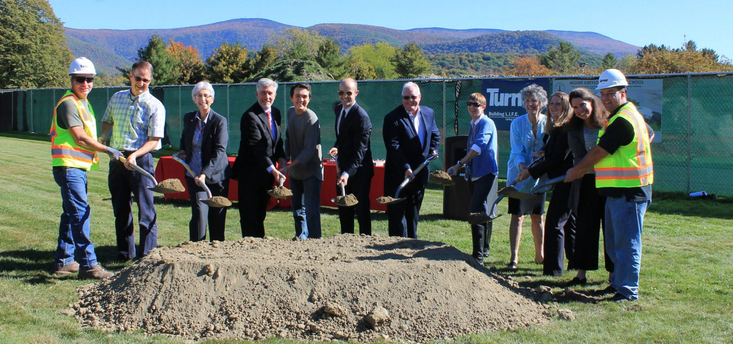 Executive Director Jack McCarthy joined local officials at the groundbreaking for the new Mount Greylock M/HS
