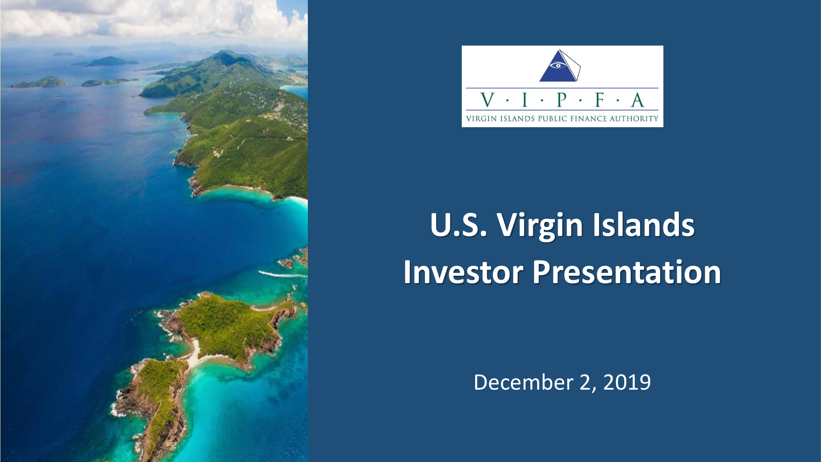 U.S. Virgin Islands Investor Presentation