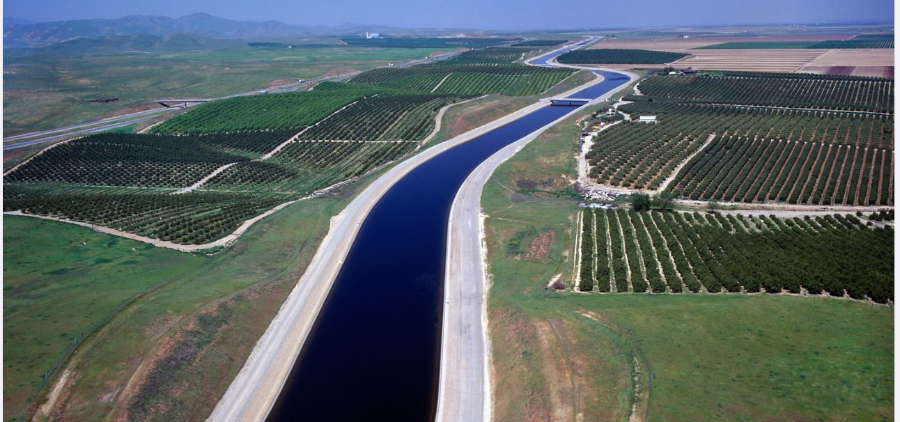 The aqueduct is a critical part of the State Water Project that carries water from the Sacramento-San Joaquin Delta to the San Joaquin Valley and Southern California.