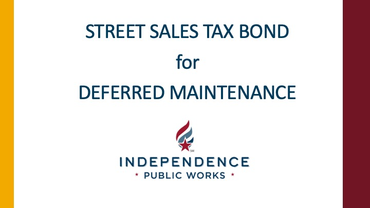 Street Sales Tax for Deferred Maintenance